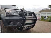 Кенгурин на УАЗ Патриот 2015 Самурай с защитой фар и двигателя