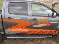 Пороги РИФ силовые Toyota Hilux 2005-2014